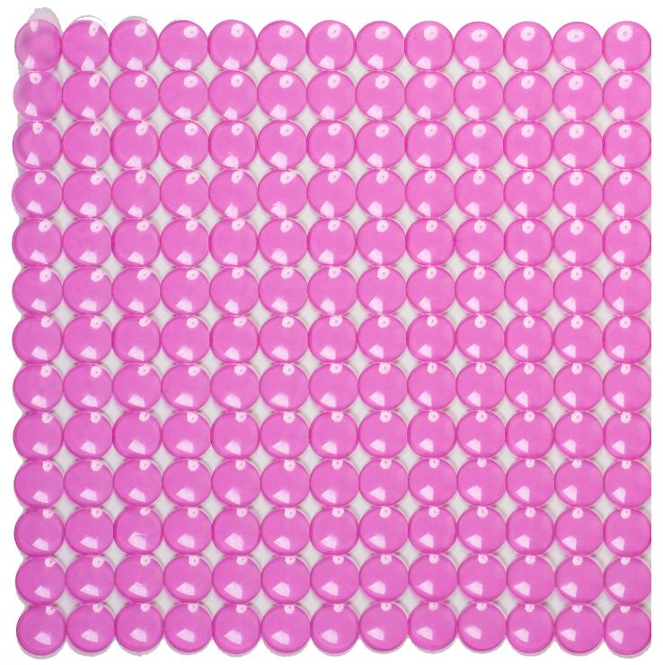 Антискользящий коврик для душа Rondo 52 х 52 см розовый 0160