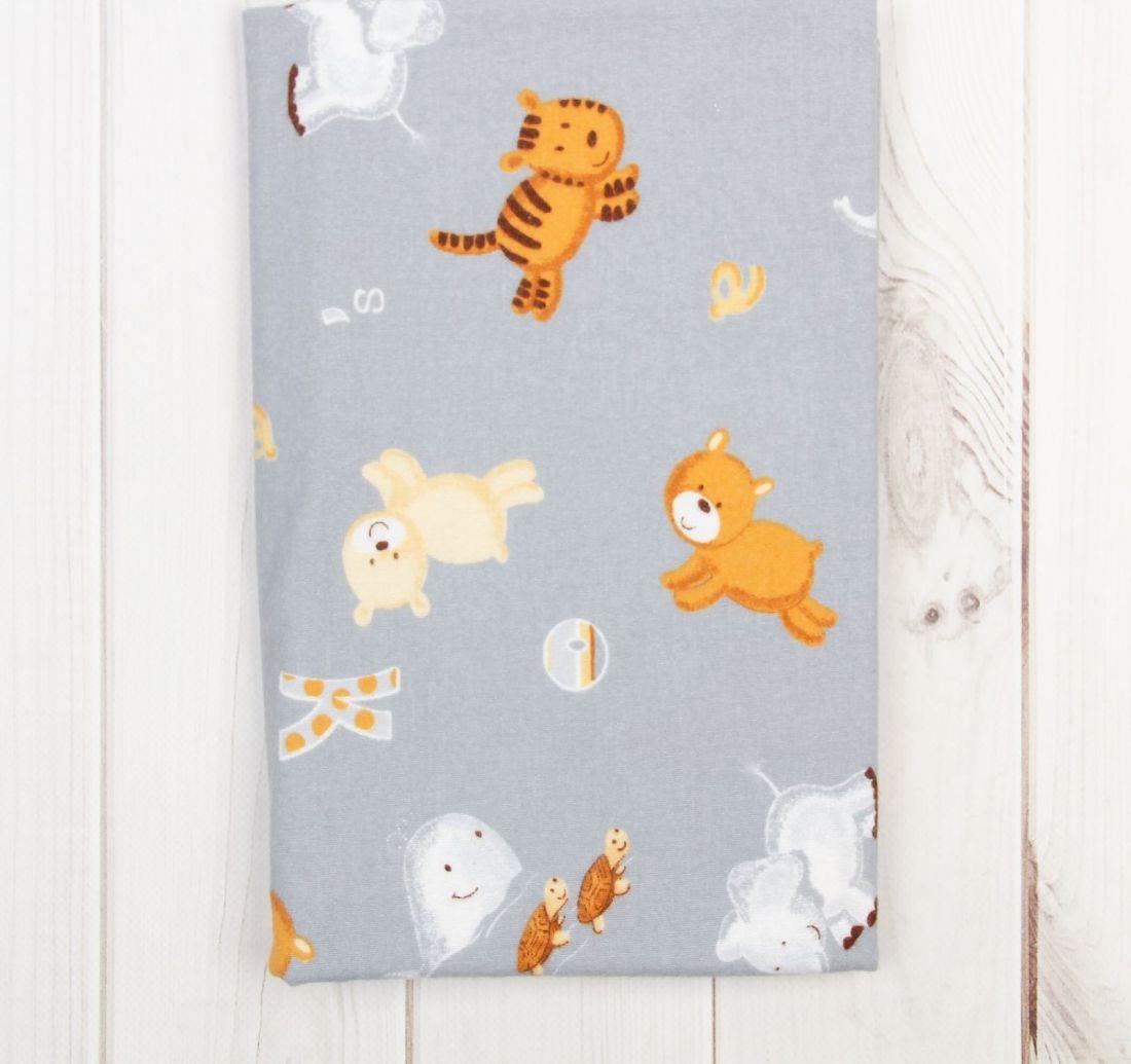 Пеленка фланелевая Мишки и тигрята