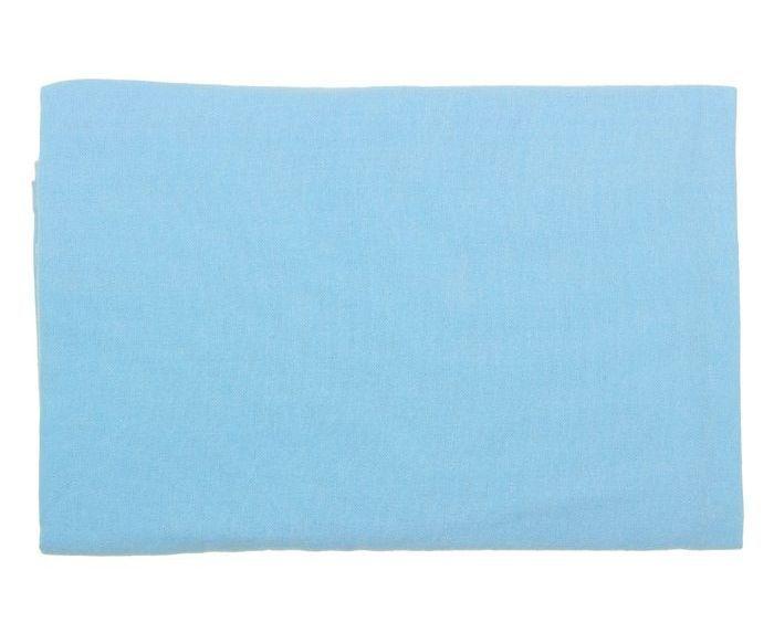 Голубая фланелевая пеленка