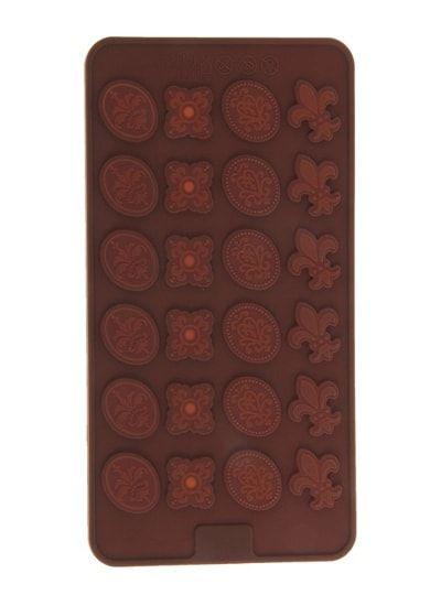 "Форма для шоколада, 24 ячеек, 21х11 см ""Конфеты"""