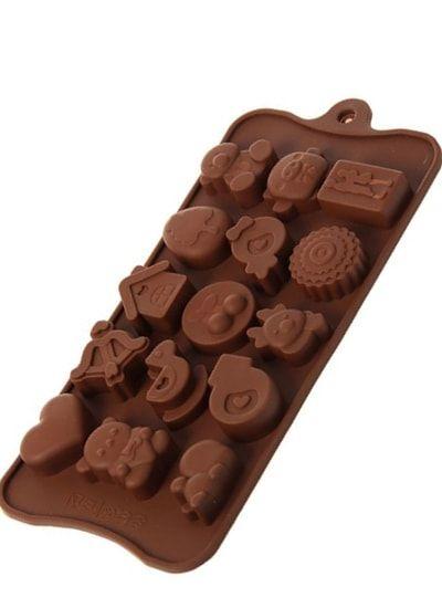 """Форма для льда и шоколада, 15 ячеек, 21х11х1,5 см """"Счастье есть"""""""