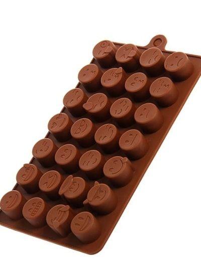Форма для шоколада, 28 ячеек,18,5х11х1,5 см Смайлики