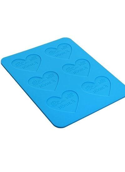 Форма для шоколада, 6 ячеек, 28х23,6х0,4 сердца