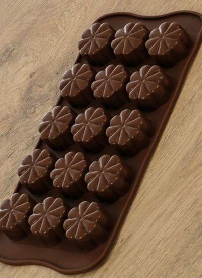"Форма для шоколада, 15 ячеек, ""Цветочки"""
