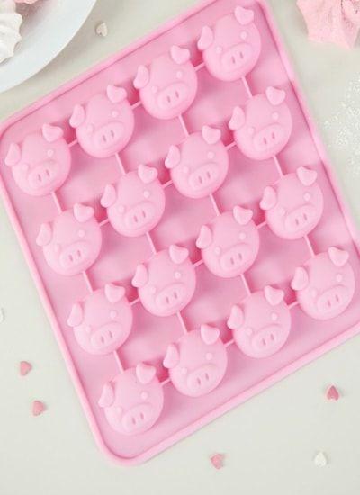 "Форма для льда и шоколада, 16 ячеек, 17х17х1,5 см ""Свинка"""