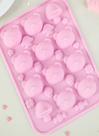 "Форма для льда и шоколада, 26 ячеек, 18,5х14х1,5 см ""Мишка"""