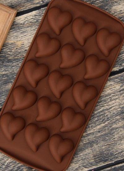 Форма для шоколада 15 ячеек     Сердца 3д