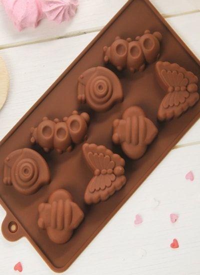"""Форма для льда и шоколада """"Насекомые"""", 8 ячеек, цвет шоколадный"""