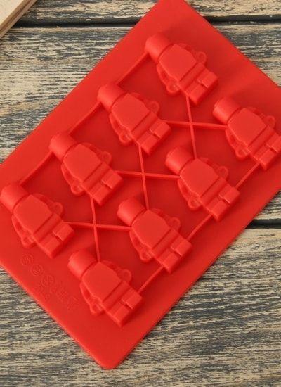 """Форма шоколада, 8 ячеек, 16х11,5х1,5 см """"Роботы"""" Лего"""