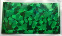 Фольга для дизайна ногтей, литья (переводная). Цвет: зеленая крупные осколки (Размер: 4см на 1 метр)