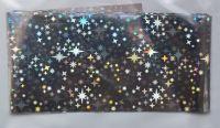 Фольга для дизайна ногтей, литья (переводная). Цвет: серебро звезды (Размер: 4см на 1 метр)
