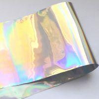 Фольга «Битое стекло» серебро голограмма для дизайна ногтей №19
