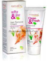 Крем для депиляции Чистота и Свежесть Патанджали Аюрведа   Divya Patanjali Clean & Fresh Hair Removal Cream