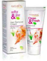Крем для депиляции Чистота и Свежесть Патанджали Аюрведа | Divya Patanjali Clean & Fresh Hair Removal Cream