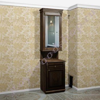 """Тумба со шкафом- зеркалом """"Челси-2 УОРВИК - орех"""" для прихожей  . Модуль 4"""