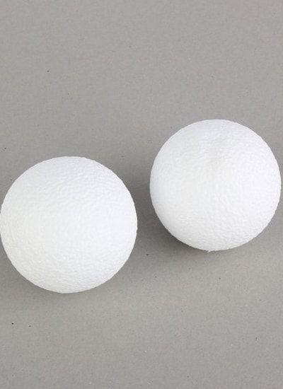 Набор шаров из пенопласта, 9 см, 2 шт