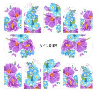 Слайдер-дизайн для ногтей № 0109