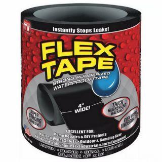 Сверхсильная клейкая лента Flex Tape (10х152 см), Чёрный