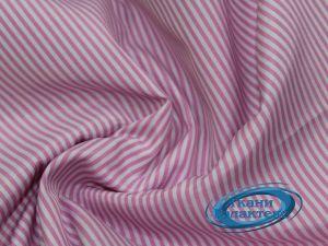 Рубашечная ткань полоска 16859/C#3 розовая полоска