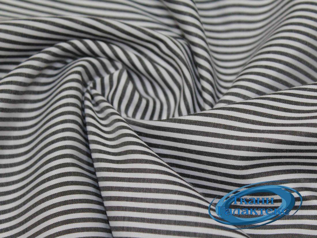 Рубашечная ткань полоска 16859/C#4 тем. серая полоска