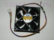 Вентилятор корпуса  (80мм)  (4 контакта)