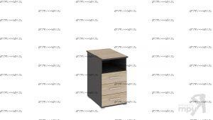 Тумба с ящиками приставная Успех-2 ПМ-184.11 (45х70х76)