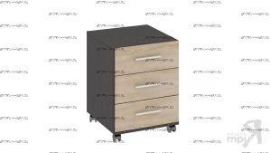 Тумба с ящиками приставная Успех-2 ПМ-184.12 (45х48х61)