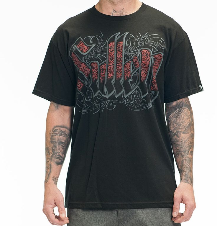 SULLEN ROSE Men's Black Sullen Tee Shirt