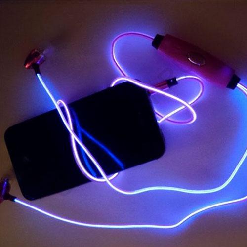 Светящиеся наушники с EL-проводом