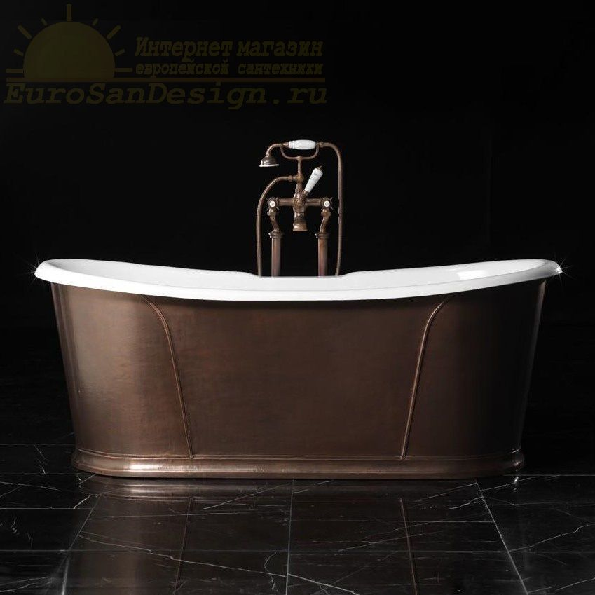 Ванна чугунная Devon&Devon Camelot Rame Antico 182x81 ФОТО