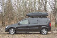 Автомобильный бокс на крышу Antares YUAGO, 580 литров, черный матовый