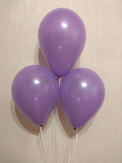 МИНИ фиолетовый шар маленького размера с гелием