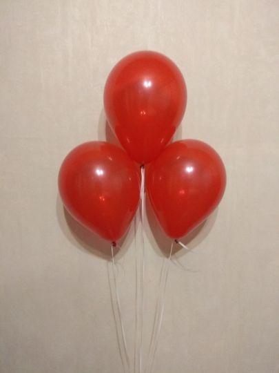 МИНИ красный шар маленького размера с гелием
