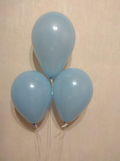 МИНИ голубой шар маленького размера с гелием