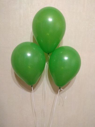 МИНИ зелёный шар маленького размера с гелием