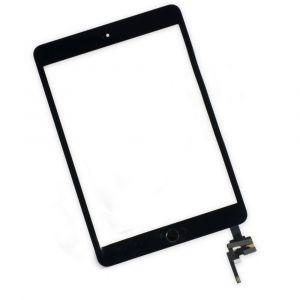 Тачскрин iPad mini 3 (в сборе с кнопкой Home) (с контроллером) (black) Оригинал