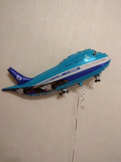Самолёт лайнер фольгированный шар с гелием