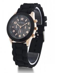 черные часы Geneva