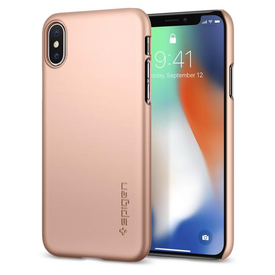 Чехол SGP Spigen Thin Fit 360 для iPhone X румяное золото