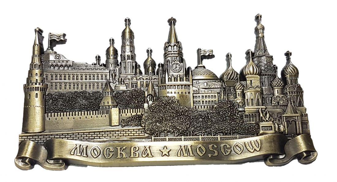 Магнит Московский Кремль металл