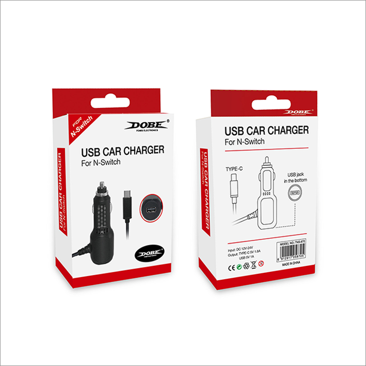 Зарядка автомобильная USB Car Charger Dobe TNS-870 (Nintendo Switch)