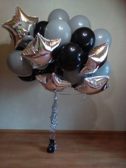 Облако из 35 шаров с грузиком