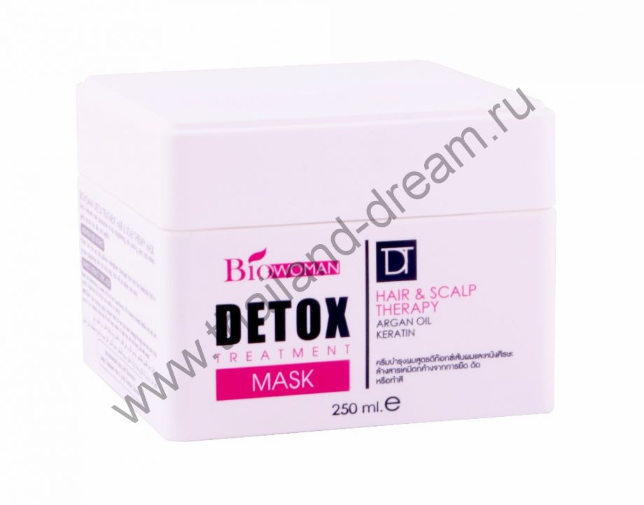 Восстанавливающая маска для волос с кератином и маслом арганы Detox Treatment Bio Woman
