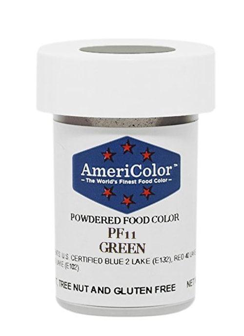 Зеленая Сухая кондитерская краска Americolor