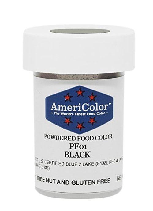 Черная Сухая кондитерская краска Americolor