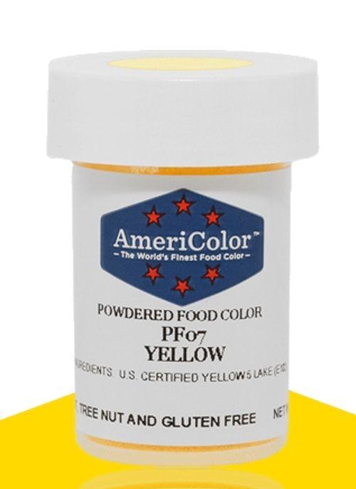 Желтая Сухая кондитерская краска Americolor