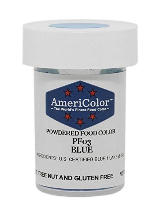Голубая Сухая кондитерская краска Americolor