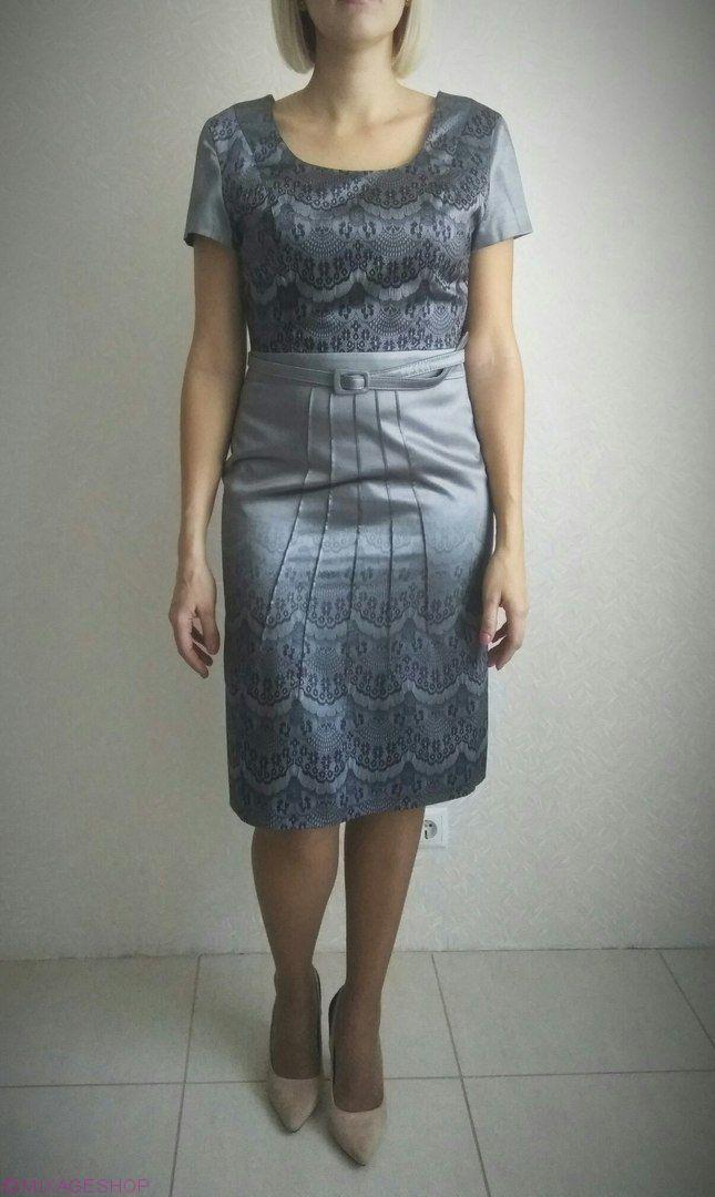 Платье атласное в комплекте с поясом