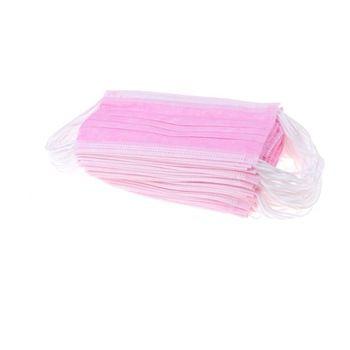 Маски на лицо 4-х слойные (Упаковка 50шт) Розовые