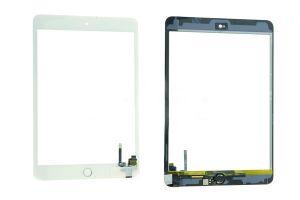 Тачскрин iPad mini 3 (в сборе с кнопкой Home) (с контроллером) (white-gold) Оригинал